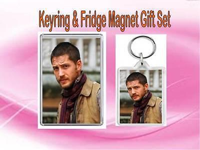 Keep Calm And Love Tom Hardy 2 Sided Keyring And Fridge Magnet Set