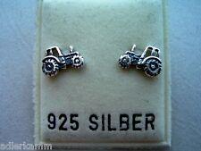 sehr süße Ohrstecker  Trecker Traktor - 925er Silber (69)