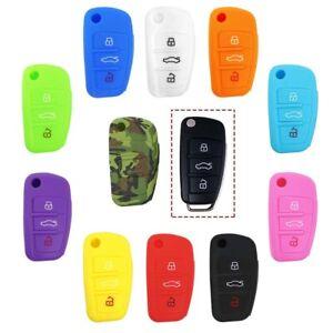 Guscio-in-Silicone-Cover-Chiave-per-Telecomando-Audi-A1-A3-A4-A6-Portachiavi