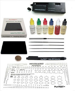 Jewelry Tools Alert 6 Gold Testing Acid Jewelry Test Kit And Scratch Stone Detect Check Metals Lot Easy To Repair