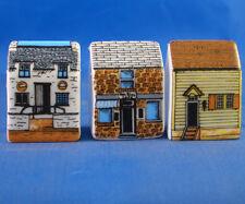 Birchcroft Thimbles -- Set of Three -- Miniature House Shape - Seaside