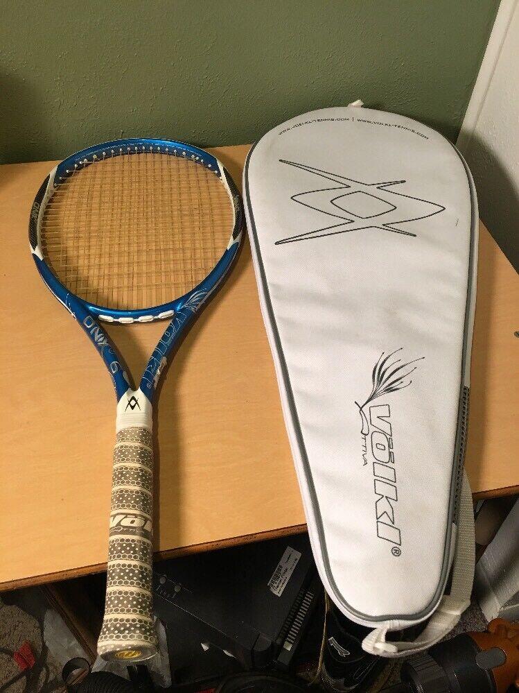 Volkl Dnx 6 llama 100 cabeza 4 3 8 Grip Tenis Raqueta Con Cubierta