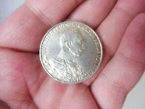 Belle, vieux Pièce de Monnaie, 3 Mark, Kaiser Wilhelm, 1913 A