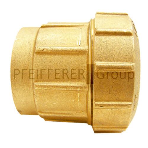 "25 mm Rohr PE-Rohrverschraubung Messing gerade Form Innengewinde 3//4/"""
