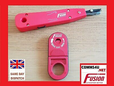 Flight Tracker Red Cyclops & Idc Tools Cable Stripper Cutter Punch Down Cat5e Data Voice Fibre