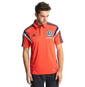 Genuine-adidas-Men-039-s-Scotland-2014-15-Training-Climalite-Polo-Shirt-SB12
