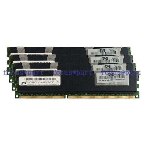 Micron 4x 4GB 16GB 2Rx4 PC3-10600R DDR3 1333MHz ECC REG Registered Memory RAM