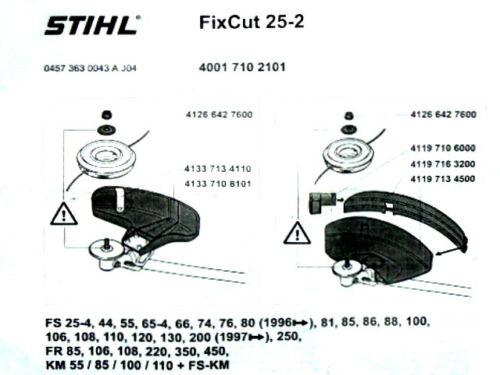 Fix Cut 25-2 für FS 44 FS44 Stihl Mähkopf Fadenkopf FixCut 25-2