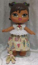"BIG BRATZ BABYZ 12"" Doll Clothes #23 Handmade Top, Skirt & Bunny Easter Set"