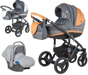 Adamex VICCO Carmel&Grey 3in1 luxury stroller kinderwagen pushchair car seat