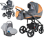 Adamex-VICCO-Carmel-amp-Grey-3in1-luxury-stroller-kinderwagen-pushchair-car-seat miniatura 1