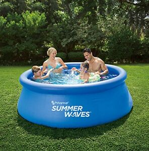 Summer-Waves-Familien-Swimmingpool-213cm-x-66cm-7-ft-x-26-in-Quick-Set-Pool