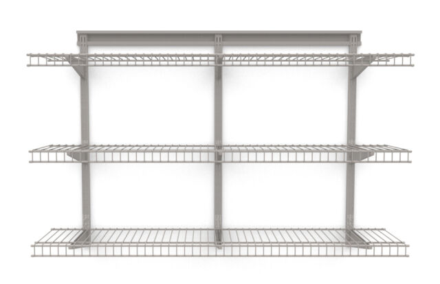 Closetmaid Closet Organizer 5 Shelf Nickel Wire Shelving Unit