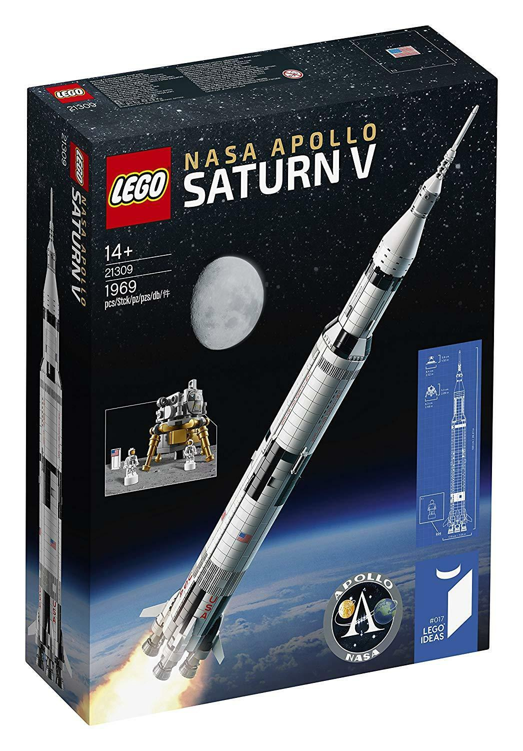 LEGO 21309 IDEAS LEGO NASA Apollo Saturn V - Rakete Mondkalender Raum