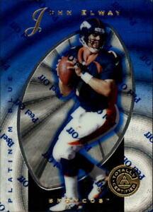 1997 Pinnacle Totally Certified Platinum Blue Football Card #10 John Elway