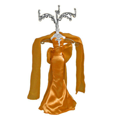 Mannequin Jewellery Display Stand Necklace Holder Lady Figure Dress Dark Gold