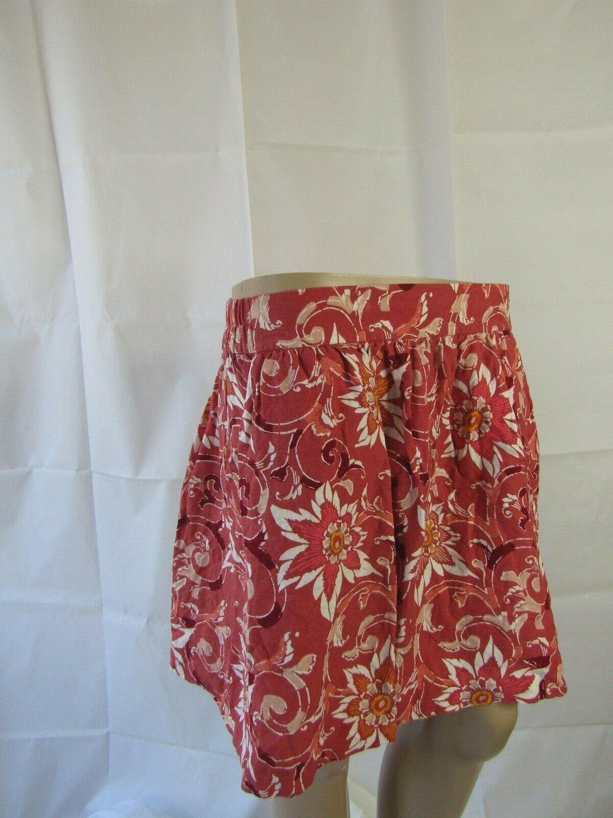 Ann Taylor Loft Multicolor Floral Skirt Size M