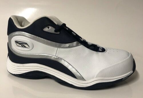 Reebok Off The Glass Boys Kids Shoes High Top Sneakers White//Navy//Silver