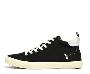 UK.6 EURO.39 BNWT COLOUR BLACK JOULES WOMENS COAST HIGH TOP TRAINER SIZE