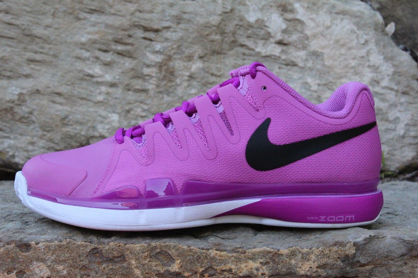 17 New Women's Vapor 9.5 Tour Tennis Shoes Pink Black Clay 649087-505 7.5 9 12