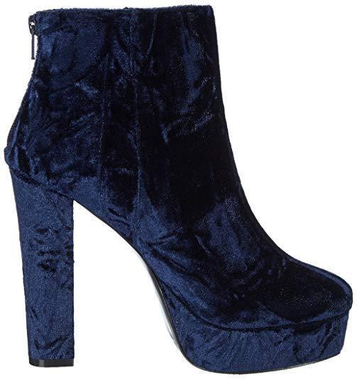 ALDO KASSER SIZE Blau CRUSHED VELVET HIGH HEEL ANKLE Stiefel SIZE KASSER 4 37 BNWB 54c500