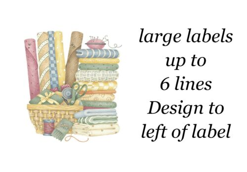 Sewing Basket Large Sticky White Paper Stickers Labels NEW