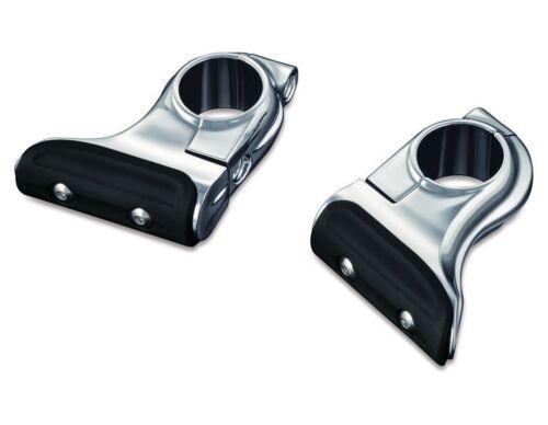 "Kuryakyn Chrome Toe-Rest Cruise Pegs Fits 1-14/"" Highway Bars"