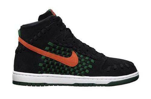 NEW NEW NEW 2013 Nike Dunk Woven Black Gorge Green MEN Basketball shoes US 8 6bec20