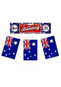 AUSTRALIAN-AUSTRALIE-jour-Aussie-Parti-Decoration-11-Drapeaux-12-ft-environ-3-66-m-Long-PVC-Bunting