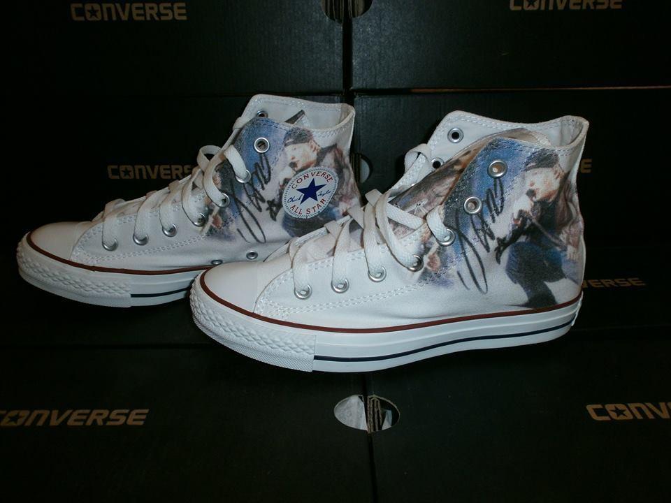 Scarpe Converse All Star Custom Vasco Rossi, artigianali Made in Italy