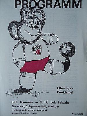 Programm 1980//81 BSG Sachsenring Zwickau Chemie Böhlen