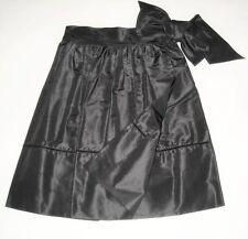ALESSANDRO DELL'ACQUA Made in Italy party skirt gonna nera misto seta 40 IT NWOT