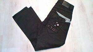 Stunning-mens-designer-034-ETO-034-detailed-black-jeans-30W-x-28L