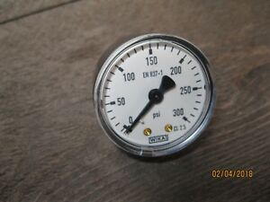 Wika-EN-837-1-pressure-gauge-Manometer-vakuum-0-300-PSI-NEU