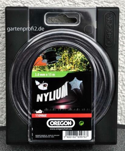"Oregon Nylium /""Alu/"" Profi Mähfaden 3,0mm x15m"