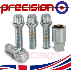 Extended 40mm locking bolts & security Nut for Aftermarket Audi TT MK1 Alloys