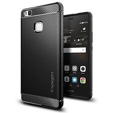 Huawei P9 Lite, Spigen caso resistente armadura Negro L05CS20299