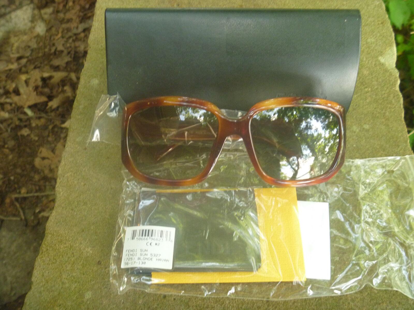 Geunine and Authentic FENDI Sunglasses FS5327 Blonde Havana Color (725)