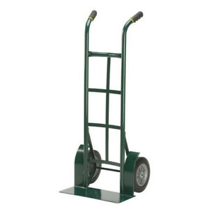 "2 Wheel Dolly Hand Truck Cart Mover Heavy Duty Steel 10"" Never Flat Tires 1000lb"