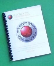 LASER PRINTED Red Camera Redcine-X Pro User Manual Guide 136 Pgs
