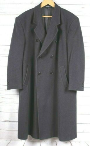 VIRANY Overcoat WOOL Full Length Dress COAT 44 S S