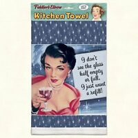 Fiddler's Elbow Vintage Humor Kitchen Towel - i Just Want A Refill Usa Made