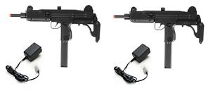Refurbished IWI UZI Airsoft AEG Duelers Kit Chargers 2x AEG Rifles BBs