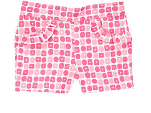 NEW GYMBOREE  MERMAID PARTY SEASHELL SWEETIE PINK GEO GIRLS SHORTS  SIZE 3T