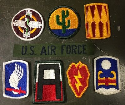 8 Us Army Military Airforce La Raccolta Assorted Mix Uniform Patch Ricamate Patch-mostra Il Titolo Originale