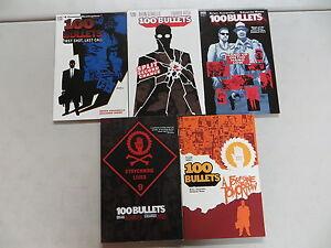100-BULLETS-LOT-OF-5-TPB-COMIC-BOOK-LOT-VOL-1-2-3-4-9-DC-VERTIGO