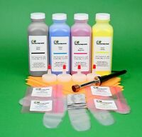 Hp Cp4525n Cp4525xh Four Color Toner Refill Kit With Hole-making Tool & Chips
