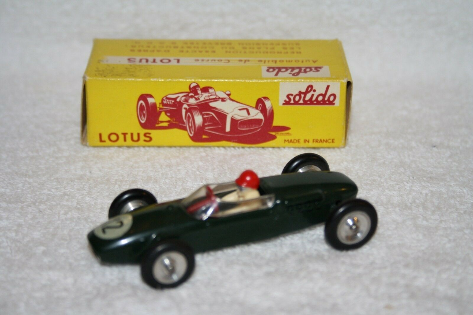 SOLIDO SERIE 100 118 LOTUS F1 RACING CAR MINT BOXED RARE SELTEN