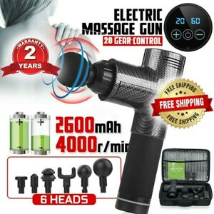 6-Heads-LCD-Massage-Gun-Percussion-Massager-Therapy-Deep-Tissue-Muscle-Relaxing