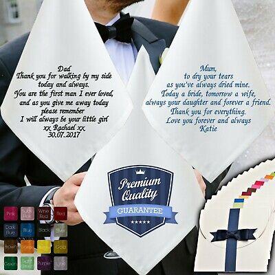 Fazzoletto Da Matrimonio Personalizzato Per Madre Figlia Lo Sposo Il Padre Della Sposa-mostra Il Titolo Originale Pacchetto Elegante E Robusto